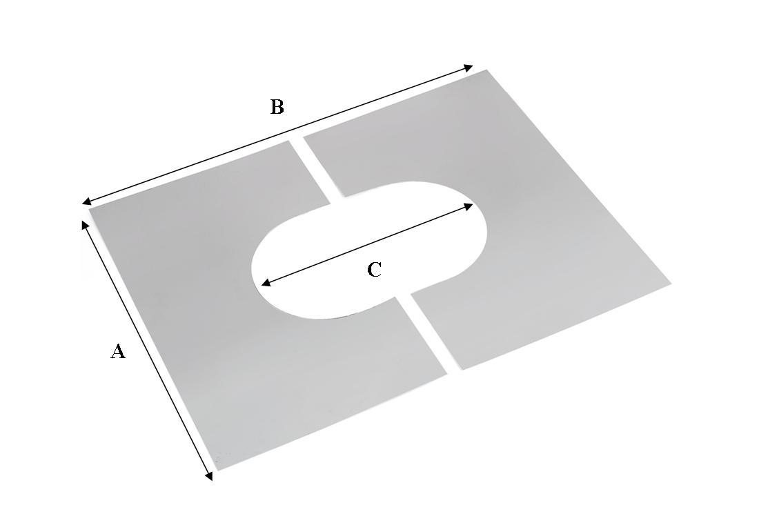 Cache Pour Conduit De Cheminée plaque de propreté inox - Ø250mm - réf. - conduits de fumÉe